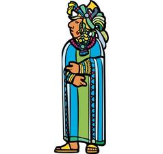 Standing Mayan in robe vector image vector image