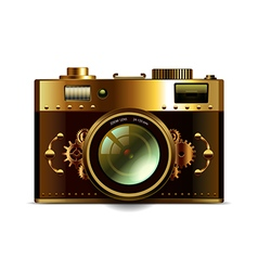 Steampunk camera isolated vector image