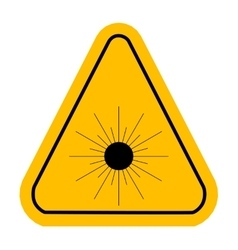 Warning icon of Laser light in yellow triangle vector image vector image