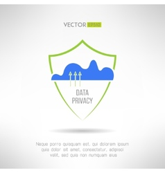 Cloud computing security Data protection concept vector image vector image