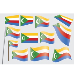 flag of Union of the Comoros vector image