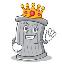 king trash character cartoon style vector image