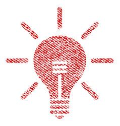 light bulb fabric textured icon vector image vector image