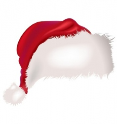 Santa cap vector