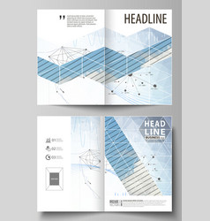 Business templates for bi fold brochure flyer vector