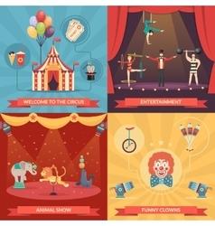 Circus Show 2x2 Design Concept vector image vector image