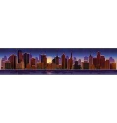 Night cityscape vector image vector image