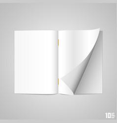 open the paper journal vector image vector image