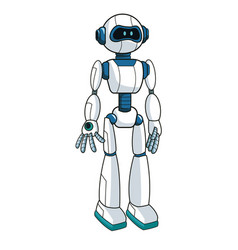 smart robot futuristic technology vector image