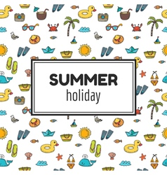 Summer holiday Summer tropical vacation background vector image vector image