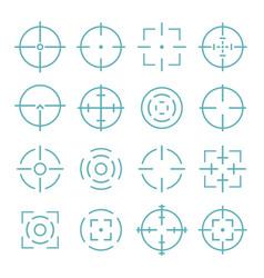 target and aiming to bullseye vector image