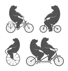 Vintage of Bear vector image