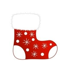 Christmas socks icon vector image