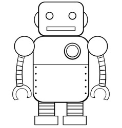 Square robot vector image vector image