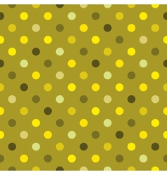 Tile green polka dots wallpaper background vector image vector image