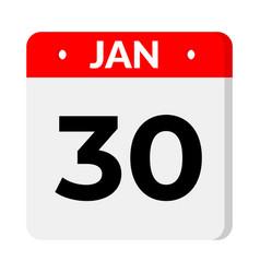 30 january calendar icon vector