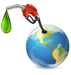 A petrol pump and a globe vector