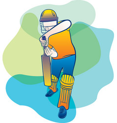 Abstract cricket player vector