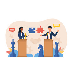 Abstract negotiations concept vector