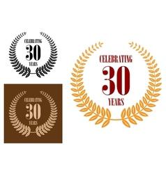 Anniversary jubilee celebration icons vector