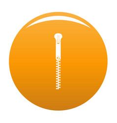 Bag zip icon orange vector