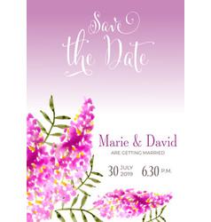 beautiful wedding invitation with watercolor vector image