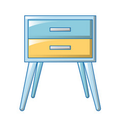 blue bedside table icon cartoon style vector image