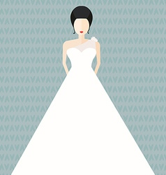 Bride in Flat Style vector image