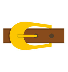 Brown belt icon isolated vector