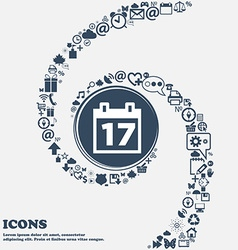 Calendar Date or event reminder icon sign in the vector image