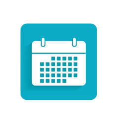 Calendar flat icon object isolated on white vector