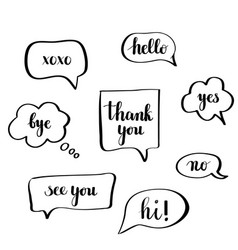 calligraphy speech bubbles vector image
