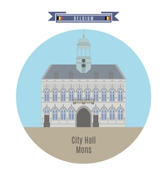 City hall mons vector