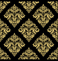 Classic seamless black and golden pattern vector