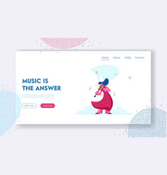Classical music concert website landing page vector
