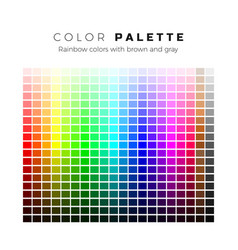 colorful palette set bright colors rainbow vector image