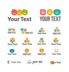 concept of speech bubble logo vector image