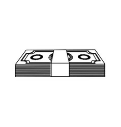 Contour dollar bills organized vector