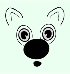 Cute animal head funny cartoo vector