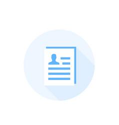 Cv resume icon vector