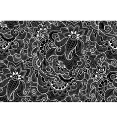 Decorative natural seamless pattern Zen-tagle vector image vector image