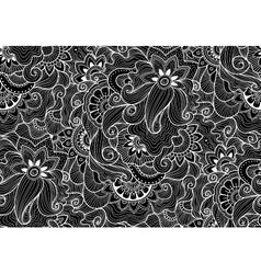 Decorative natural seamless pattern Zen-tagle vector image