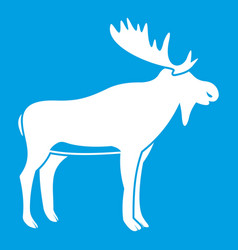 deer icon white vector image