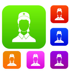 doctor set collection vector image