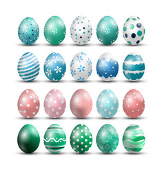 easter eggs isolated background vector image