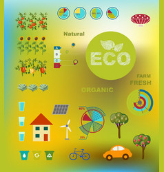ecologically friendly infographics vector image