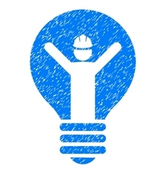 Electrician Grainy Texture Icon vector