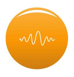 Equalizer melody radio icon orange vector