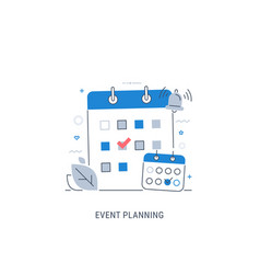Event planning vector
