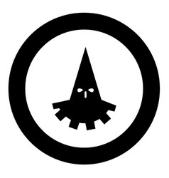 executioner hangman icon black color in circle vector image